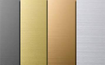 Paslanmaz Çelik Dekoratif Renkli Plaka
